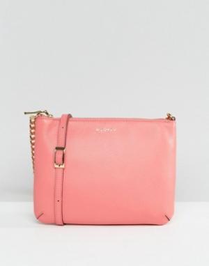 Кожаная сумка через плечо Modalu. Цвет: розовый