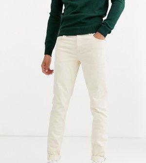 Светло-бежевые узкие джинсы Tall-Белый ASOS DESIGN