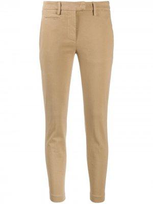 Slim-fit cotton chinos Dondup. Цвет: нейтральные цвета