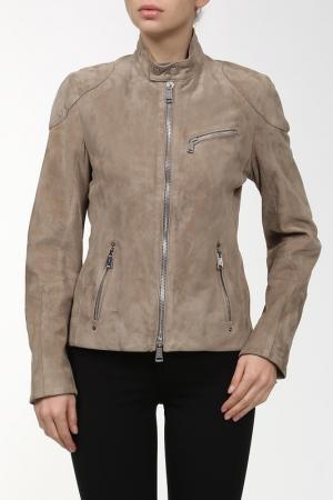 Куртка кожаная Ralph Lauren. Цвет: мультицвет