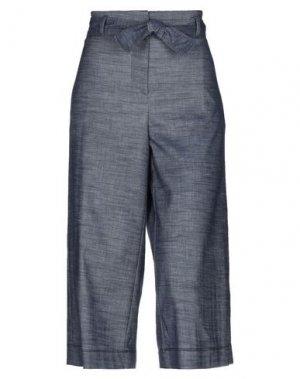 Джинсовые брюки-капри ROSSO35. Цвет: синий