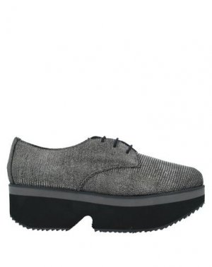 Обувь на шнурках ESPADRILLES. Цвет: серый