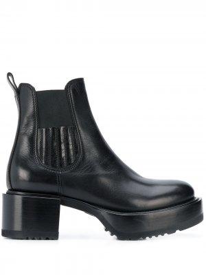 Ботинки со вставками Premiata. Цвет: черный