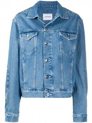 Джинсовая куртка с логотипом Lourdes. Цвет: синий