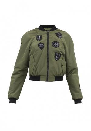 Куртка утепленная Pavel Yerokin. Цвет: хаки