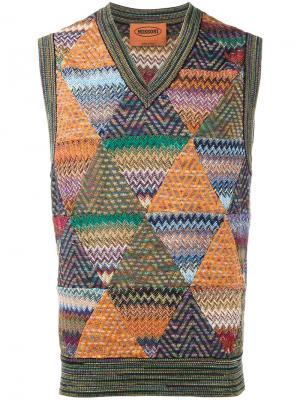 Вязаный жилет с зигзагообразным узором Missoni. Цвет: многоцветный