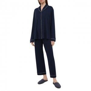 Пижама Hanro. Цвет: синий