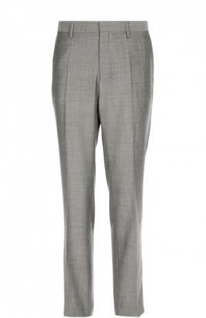 Классические шерстяные брюки BOSS. Цвет: серый
