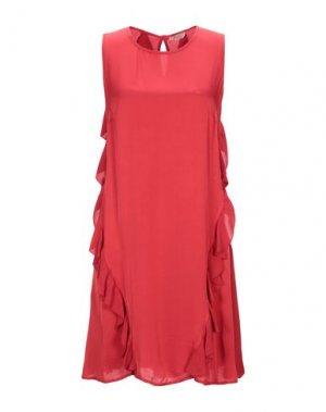 Короткое платье H2O ITALIA. Цвет: красный