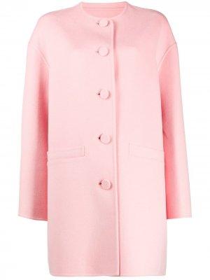 Пальто свободного кроя с круглым вырезом Marc Jacobs. Цвет: розовый