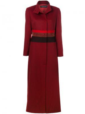 Пальто в стиле милитари с полосками Jean Louis Scherrer Pre-Owned. Цвет: красный