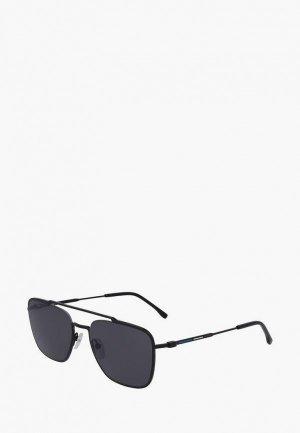 Очки солнцезащитные Lacoste 105SND. Цвет: черный