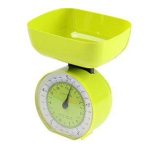 Весы кухонные luazon lvkm-503, механические, до 5 кг, чаша 1000 мл, зелёные Home