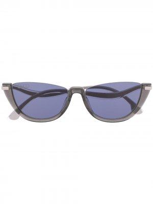 Солнцезащитные очки Ionas с изогнутыми дужками Jimmy Choo Eyewear. Цвет: серебристый