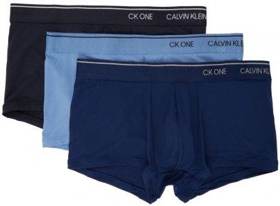 Three-Pack Blue Microfiber CK ONE Trunk Boxers Calvin Klein Underwear. Цвет: 929 blue