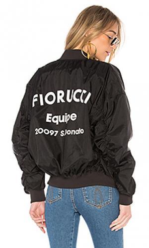 Куртка бомбер lou FIORUCCI. Цвет: черный