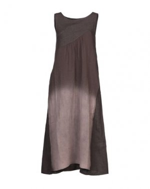 Платье длиной 3/4 ALPHA STUDIO. Цвет: какао