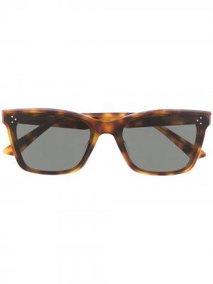 Солнцезащитные очки в оправе кошачий глаз Gentle Monster. Цвет: коричневый