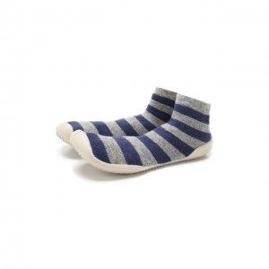 Домашняя обувь Collegien. Цвет: серый
