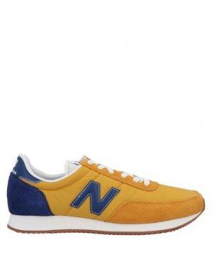 Низкие кеды и кроссовки NEW BALANCE. Цвет: охра