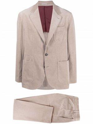 Вельветовый костюм-двойка Brunello Cucinelli. Цвет: нейтральные цвета