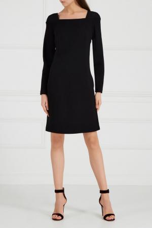 Черное платье-футляр Chapurin. Цвет: черный