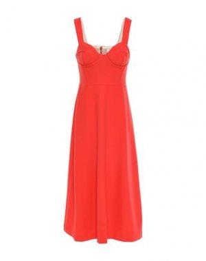 Платье миди CHALAYAN. Цвет: оранжевый