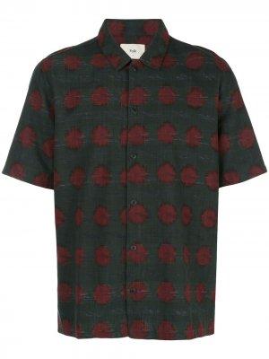 Рубашка Gabe с абстрактным принтом Folk. Цвет: серый