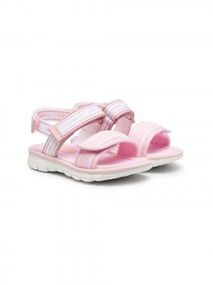 Сандалии на липучках Dolce & Gabbana Kids. Цвет: розовый
