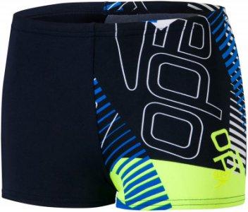 Плавки-шорты для мальчиков Allover Aquashort, размер 152 Speedo. Цвет: синий
