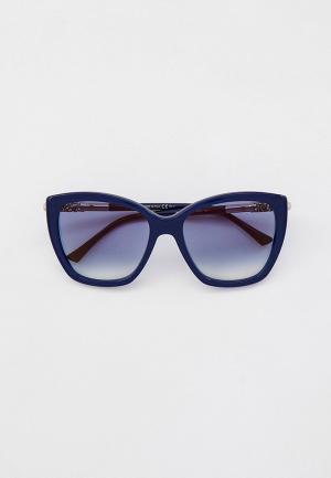 Очки солнцезащитные Jimmy Choo ROSE/S QM4. Цвет: синий