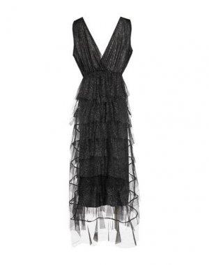 Длинное платье SOALLURE. Цвет: черный