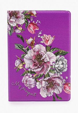 Обложка для паспорта Artio Nardini. Цвет: фиолетовый
