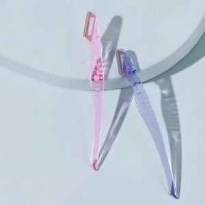 Прозрачный триммер для бровей 2шт SHEIN. Цвет: многоцветный