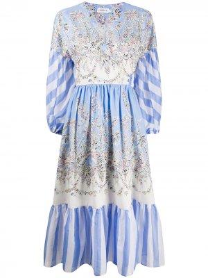 Платье Octavie Hilary с запахом Liberty London. Цвет: синий