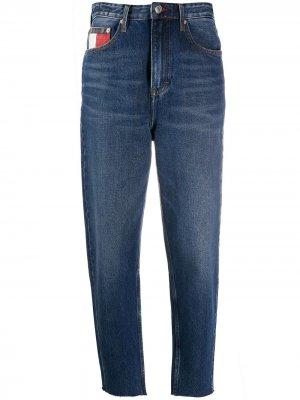 Зауженные джинсы с завышенной талией Tommy Jeans. Цвет: синий