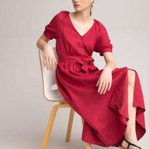 Платье LaRedoute. Цвет: розовый