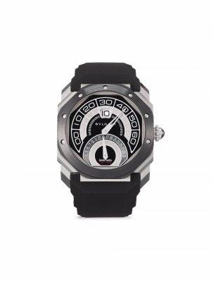 Наручные часы Octo Bi-Retro pre-owned 43 мм 2020-го года Bvlgari. Цвет: черный