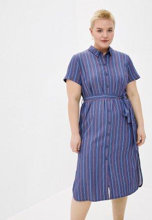 Платье Le Monique. Цвет: синий
