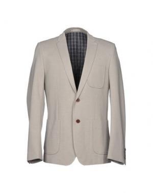 Пиджак PLECTRUM by BEN SHERMAN. Цвет: светло-серый
