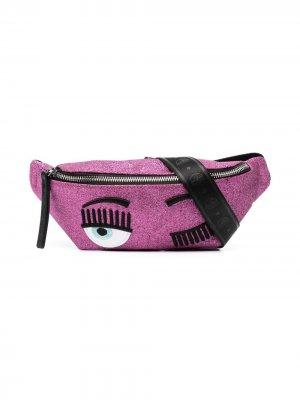 Поясная сумка Blinking Eye Chiara Ferragni Kids. Цвет: розовый