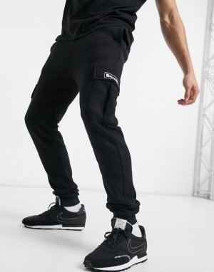 Черные джоггеры в утилитарном стиле с логотипом от комплекта -Черный цвет Bench