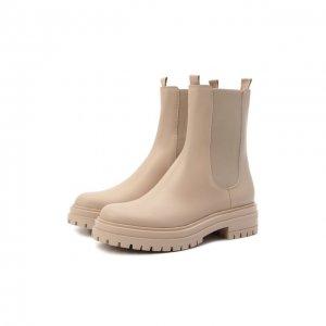 Кожаные ботинки Gianvito Rossi. Цвет: бежевый