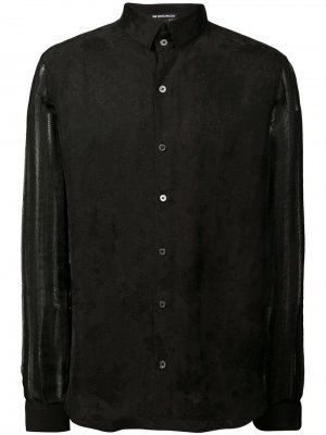 Рубашка с полупрозрачными рукавами Ann Demeulemeester. Цвет: черный