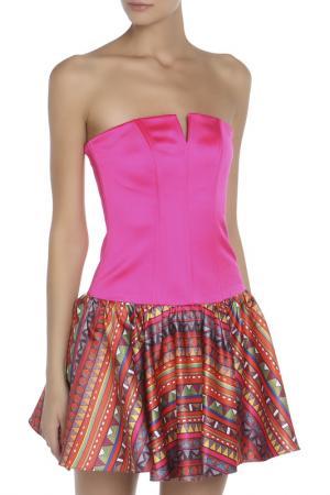 Платье Braude Luxury. Цвет: фуксия