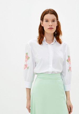 Рубашка Bezko. Цвет: белый