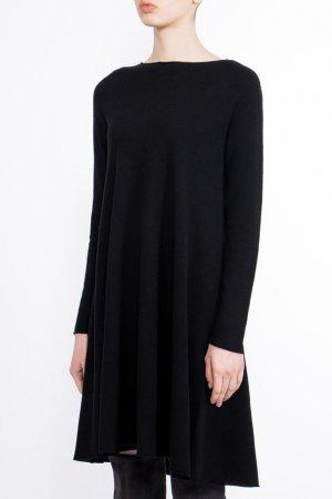 Черное трикотажное платье BILANCIONI. Цвет: черный