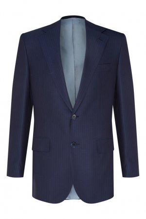 Серый костюм из шерсти Stefano Ricci. Цвет: синий