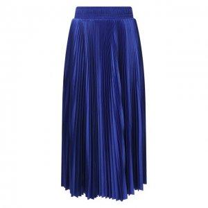 Плиссированная юбка Balenciaga. Цвет: синий