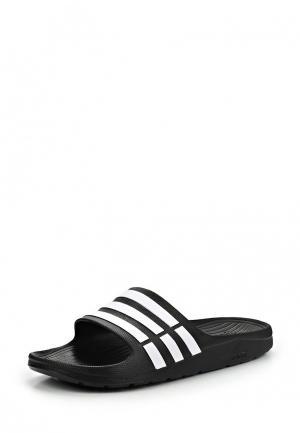 Сланцы adidas Duramo Slide. Цвет: черный